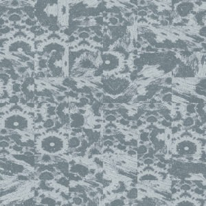 abstract blue tile kaleidoscopic image