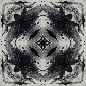 monochrome kaleidoscopic terrain