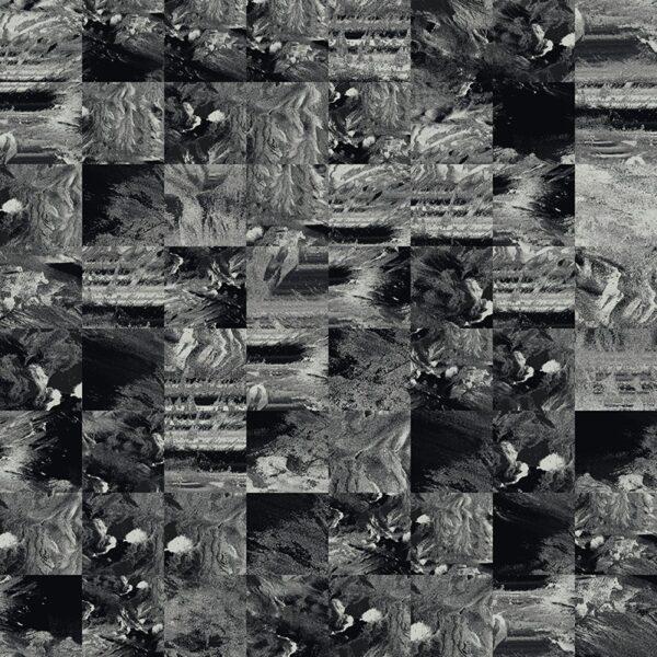 monochrome terrain glitch tile
