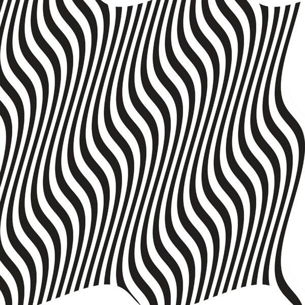 black and white wavy stripes op art