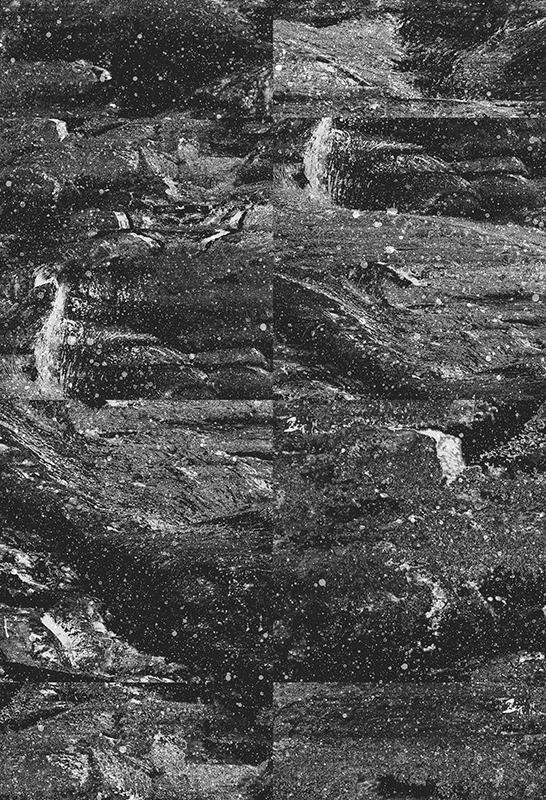 monochrome terrain glitch