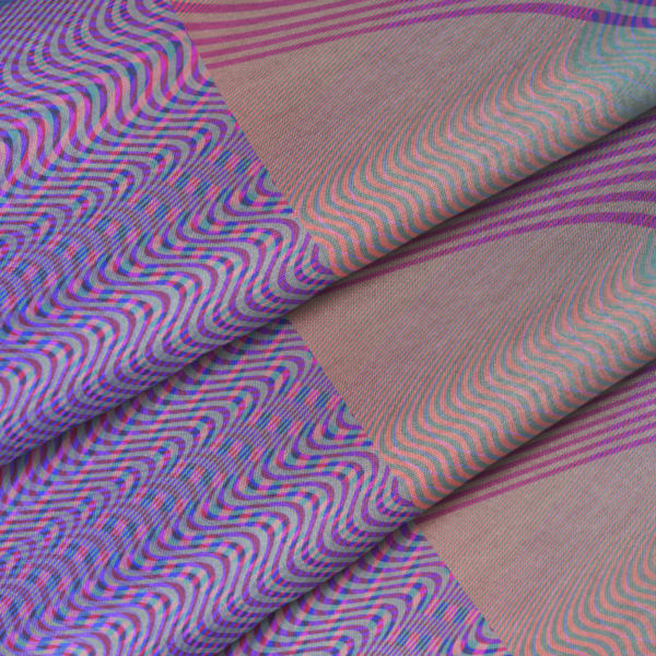 moire waves fabric