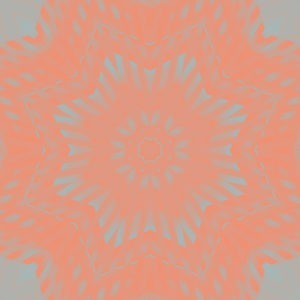 vibrant coral and gray digital star