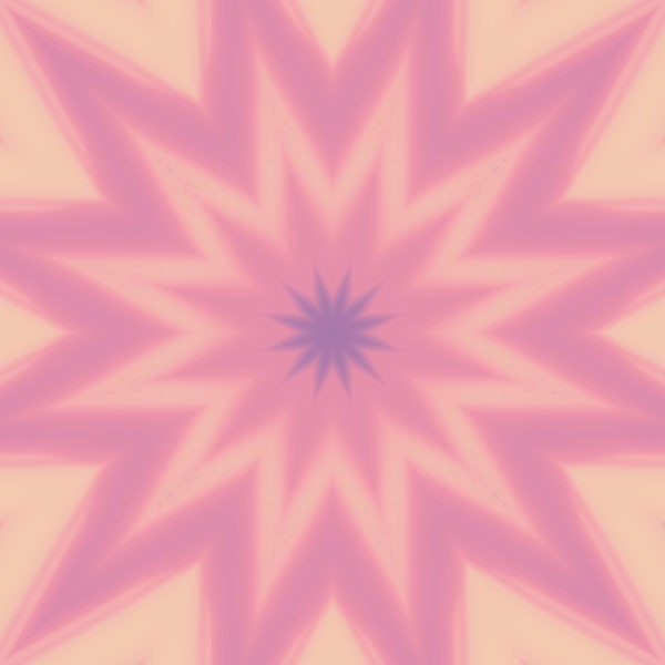 peach and pink ombre star