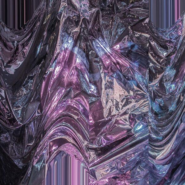 crumpled foil purple texture
