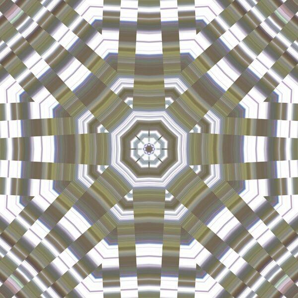 pearlescent hexagon