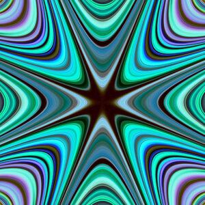 vivid blue warped star
