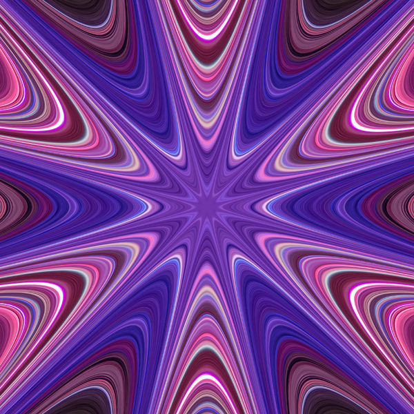 vivid colorful warped star
