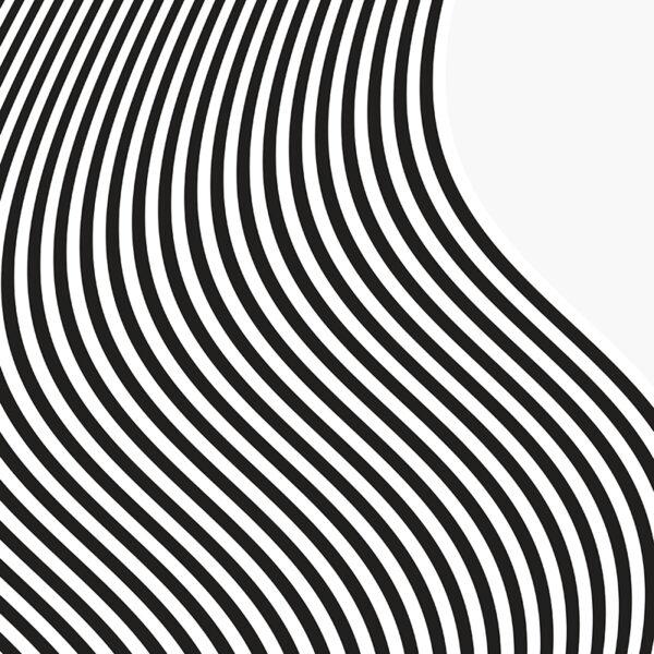 black and white wavey stripes