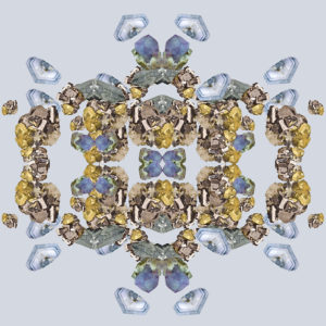 gem photo collage kaleidoscopic image