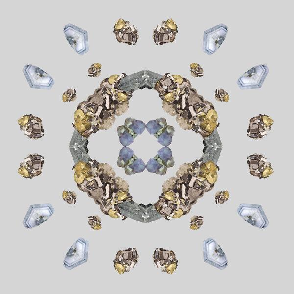 gem photo collage mandala