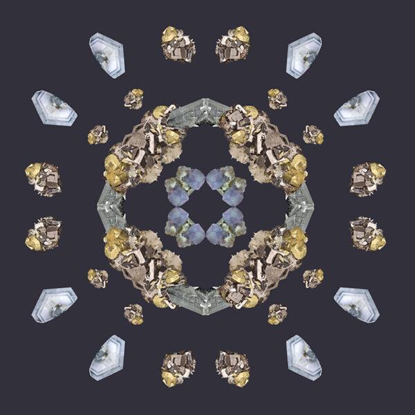 gem photo collage kaleidoscopic image