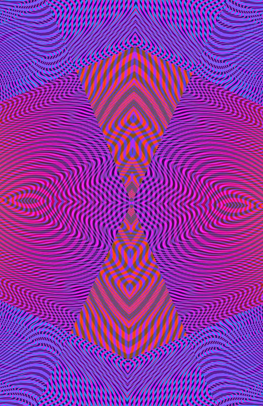moire geo shape colorful op art