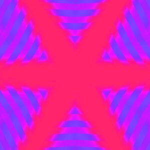 fuchsia and blue kaleidoscopic star digital art photo stock