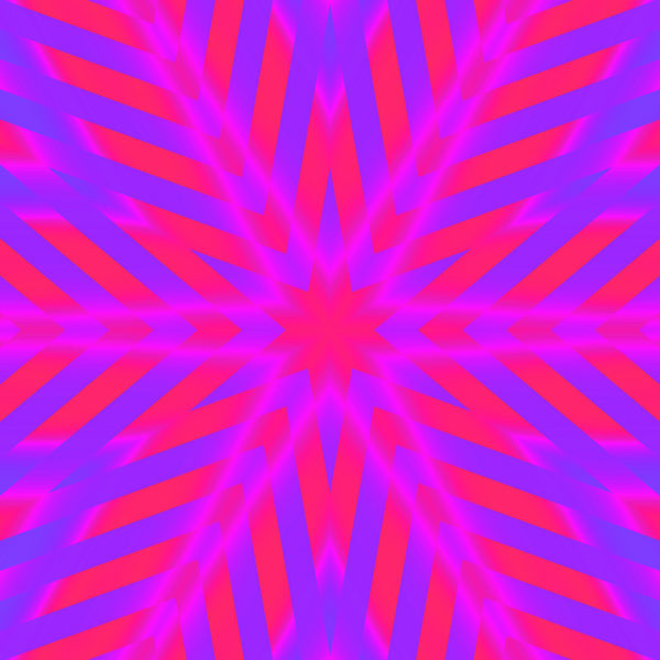 fuchsia and blue kaleidoscopic star