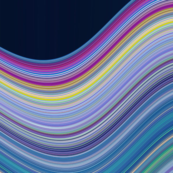 chroma wave colorful bendy digital art effect