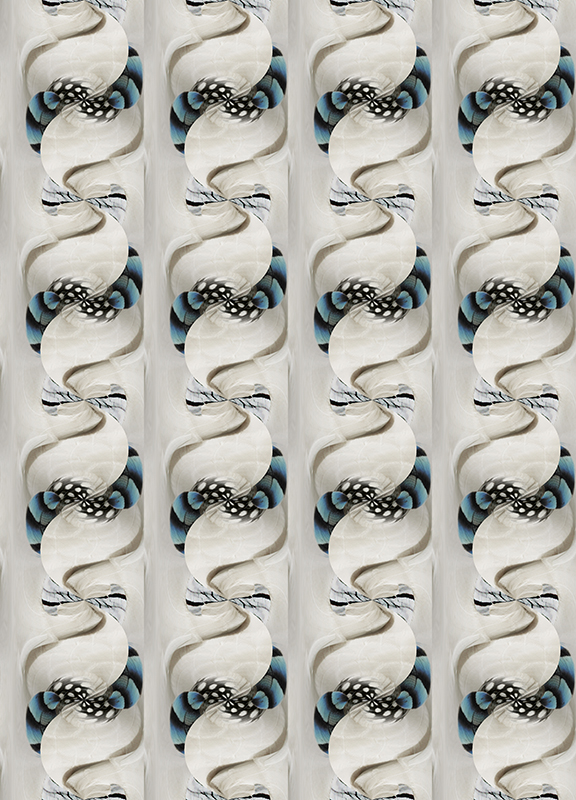 of feathers digital pattern print graphic design stock