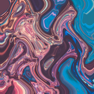 colorful glossy disorted texture abstract digital stock image
