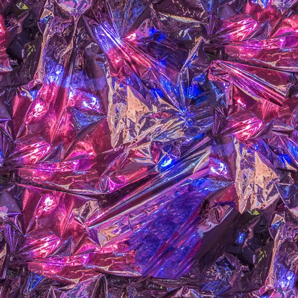 glitchy metallic abstract digital art