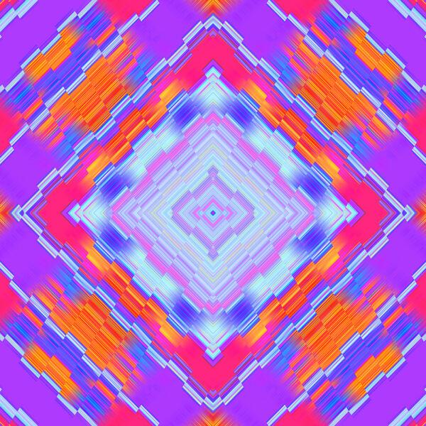 bright colorful kaleidoscopic digital art