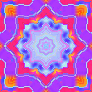 bright colorful kaleidoscopic digital stock art