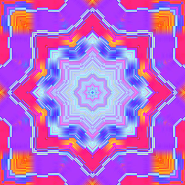 bright colorful kaleidoscopic digital stock art