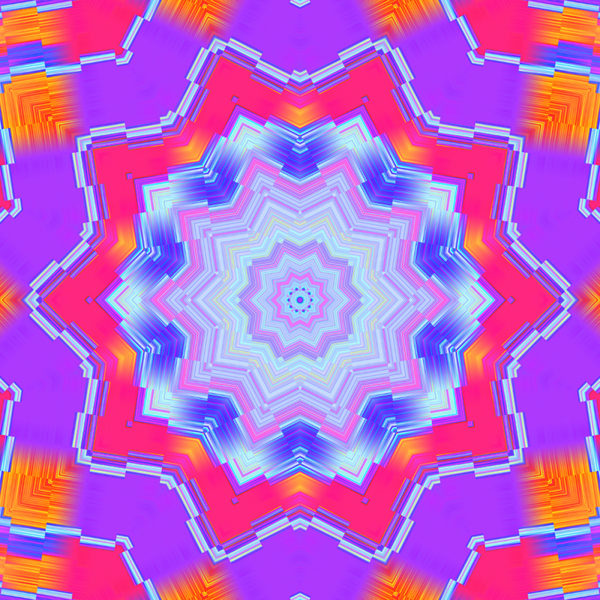 colorful kaleidoscopic digital art abstract graphic design