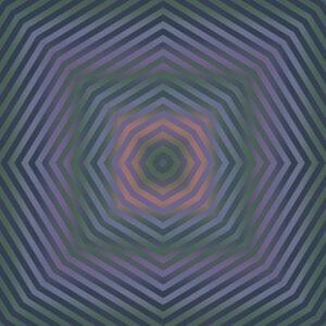 vesper muted ombre stripe design geometric fine art image