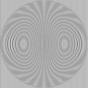op art glitch moire waves