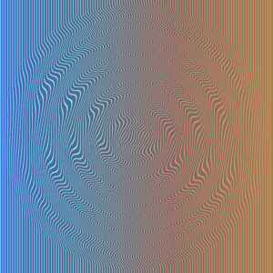 op art glitch moire waves