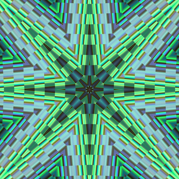 green and blue colorful star