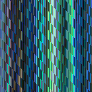 green and blue colorful glitch stripes