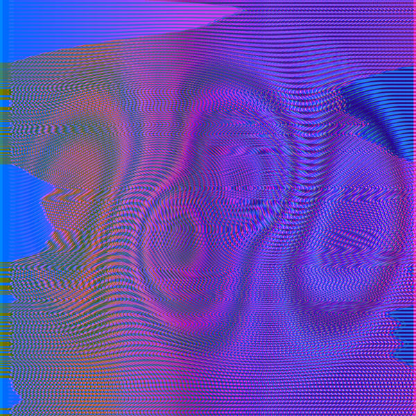 purple and blue moire orb