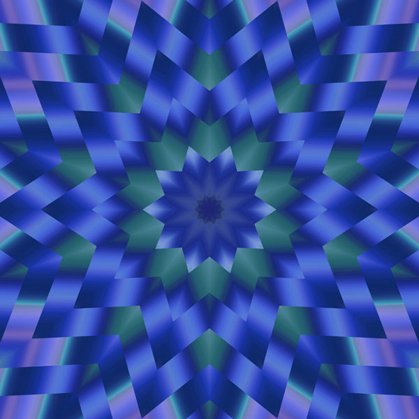 artistic gradient kaleidoscopic design