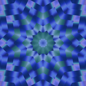artistic gradient kaleidoscopic design