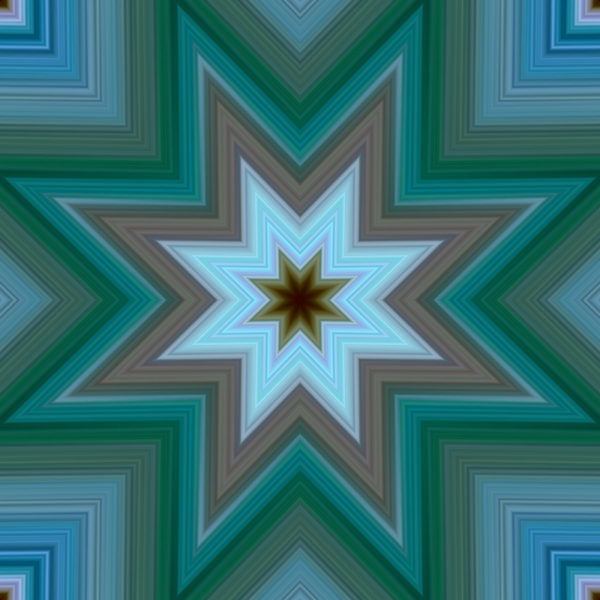 green and blue gradient star