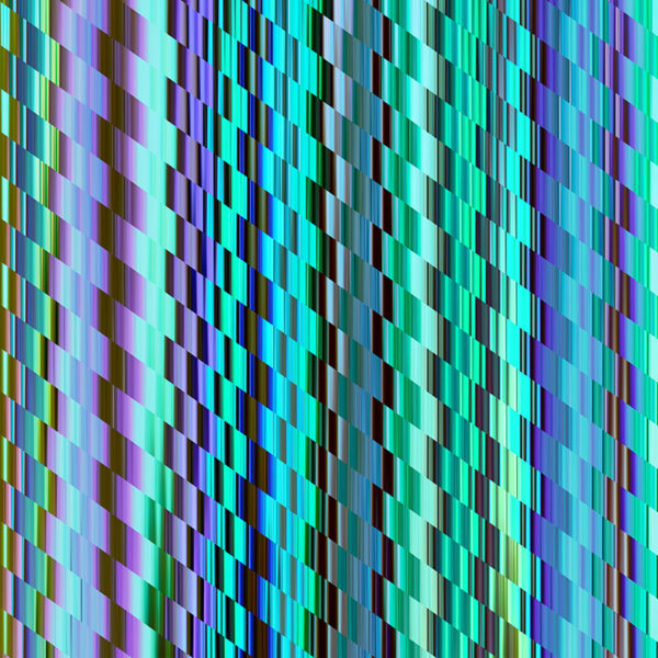colorful diagonal striped glitch design