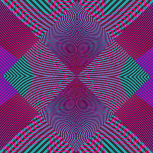moire waves kaleidoscopic colorful op art