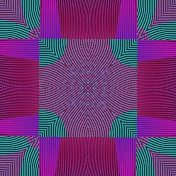 vibrant square moire design
