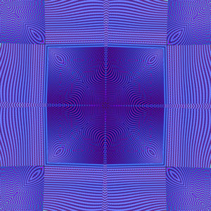 vibrant blue square moire design