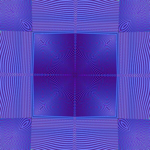 vibrant blue square moire design