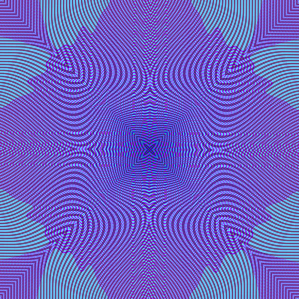 moire waves colorful op art