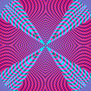moire geo shape colorful op art