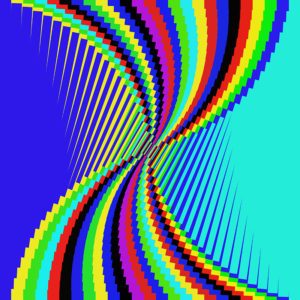 colorful striped digital art