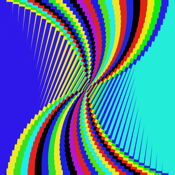 colorful striped digital art