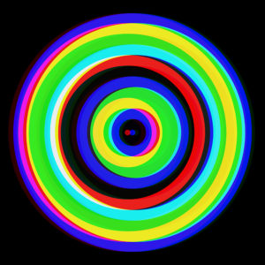 colorful striped circle art
