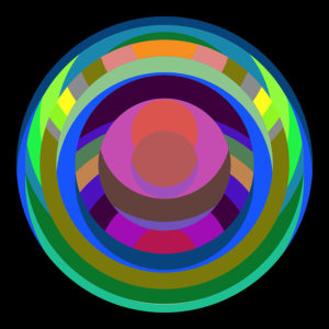 colorful circle fine art stock image