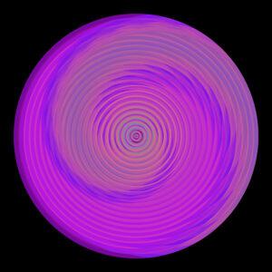 fuchsia pink circle digital art image