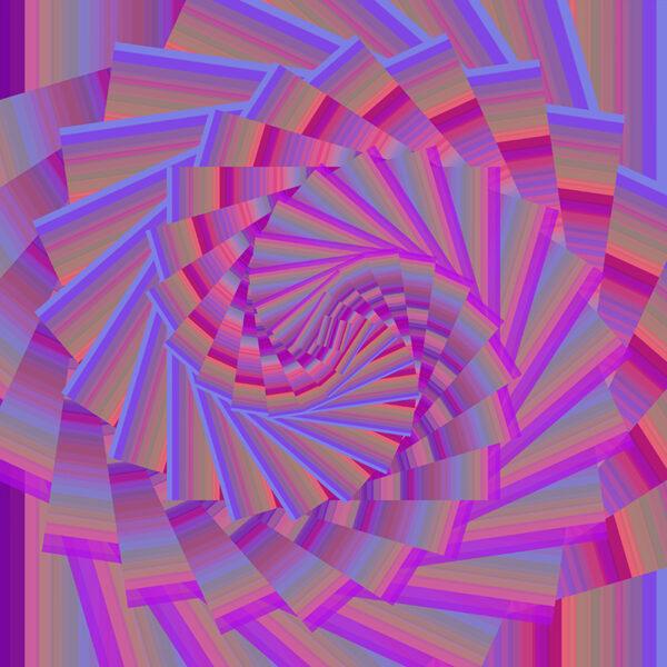 colorful Fibonacci spiral digital art image