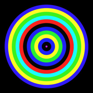 colorful striped circle image